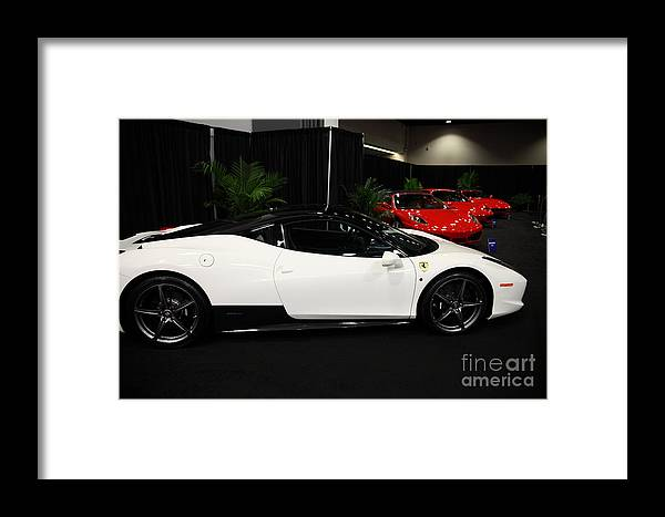 Transportation Framed Print featuring the photograph Ferrari Italia 5d26831 by Wingsdomain Art and Photography