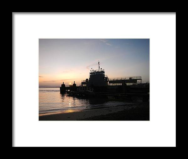 Guantanamo Bay Framed Print featuring the photograph Ferry Landing 23 by Christian Schroeder