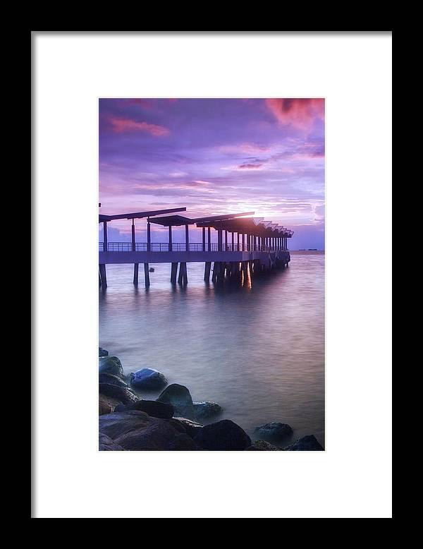 Scenics Framed Print featuring the photograph Ferry Station by Melv Pulayan