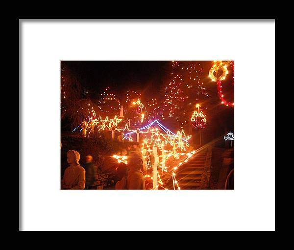 Christmas Framed Print featuring the photograph Festival Of Lights by Allyson Andrews