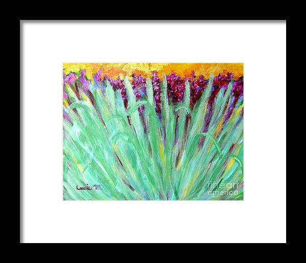 Abstract Framed Print featuring the painting Festoon by Laurie Morgan