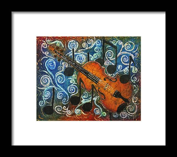 Fiddle Framed Print featuring the painting Fiddle 1 by Sue Duda