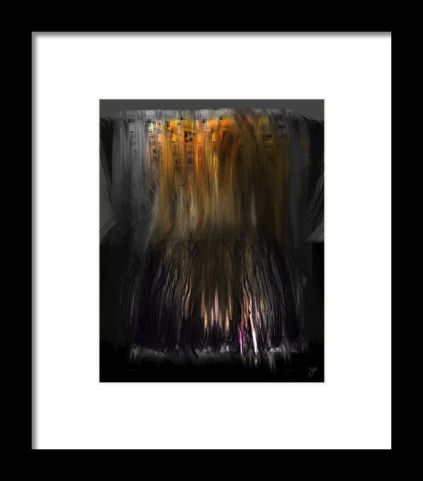 Ipad Framed Print featuring the digital art Fidty Shades Of Decay 4.0 by Brian Jensen Felde