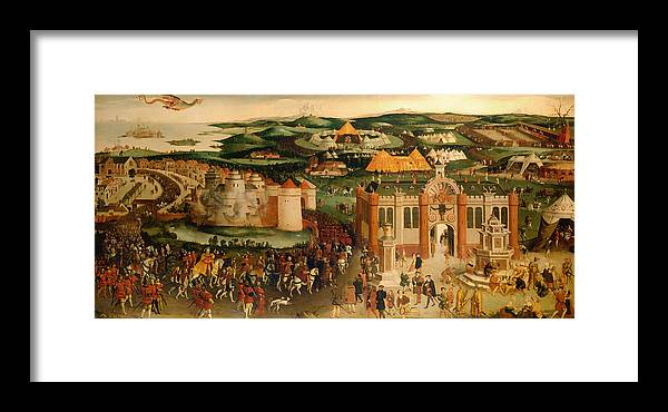 Painting Framed Print featuring the painting Field Of The Cloth Of Gold by Mountain Dreams