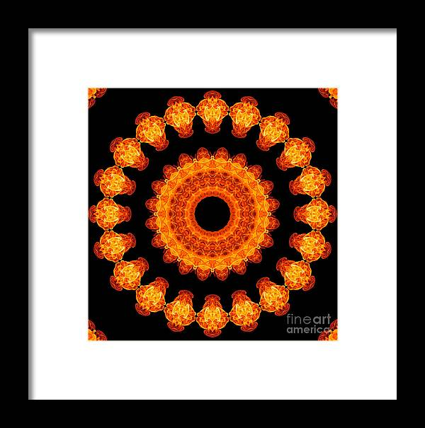Fire Framed Print featuring the photograph Fiery Pattern by Image World