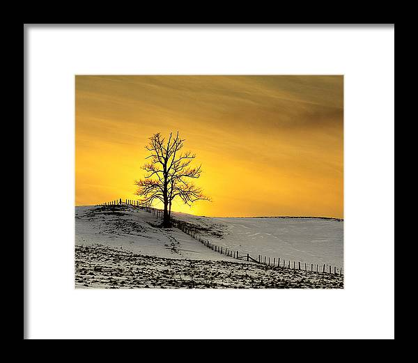 Landscape Framed Print featuring the photograph Fiery Skies by Richard Main