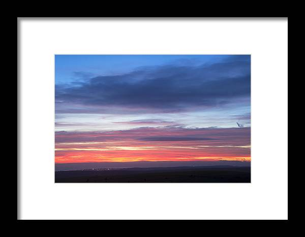 Sunset Framed Print featuring the photograph Fiery Winter Sunset by Matthew Gibson