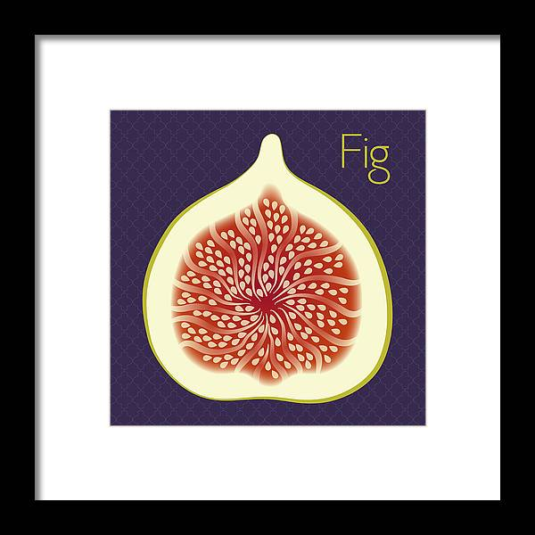Fig Framed Print featuring the digital art Fig by Christy Beckwith