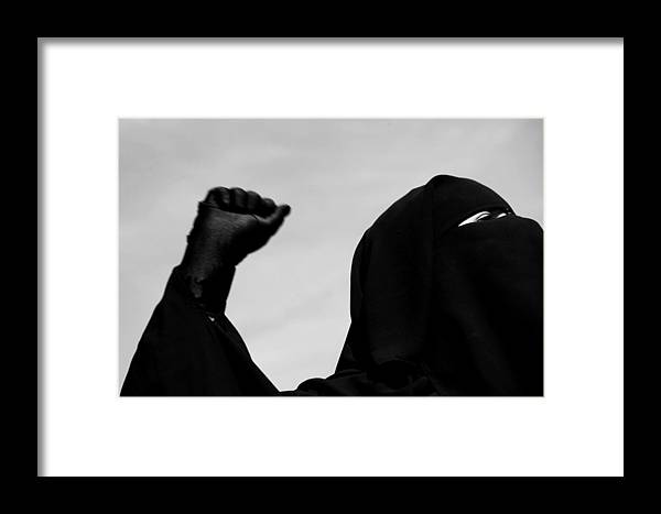 Jezcself Framed Print featuring the photograph Fight In Peace by Jez C Self