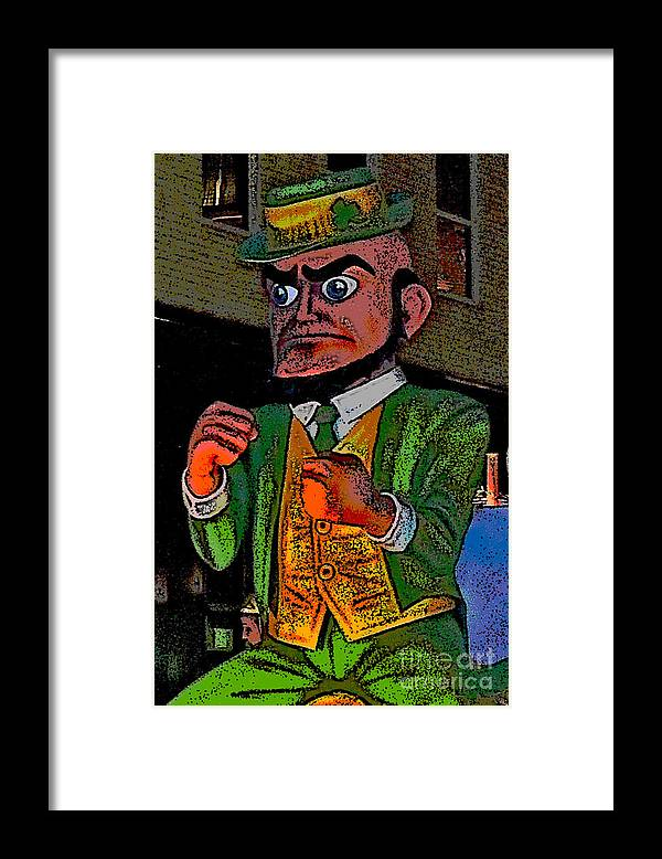 Computer Graphics Framed Print featuring the photograph Fighting Irish by Marian Bell