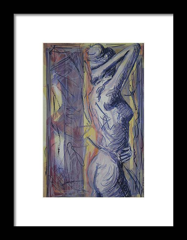 Female Framed Print featuring the painting Figure 1 2010 by Thomas Griffith