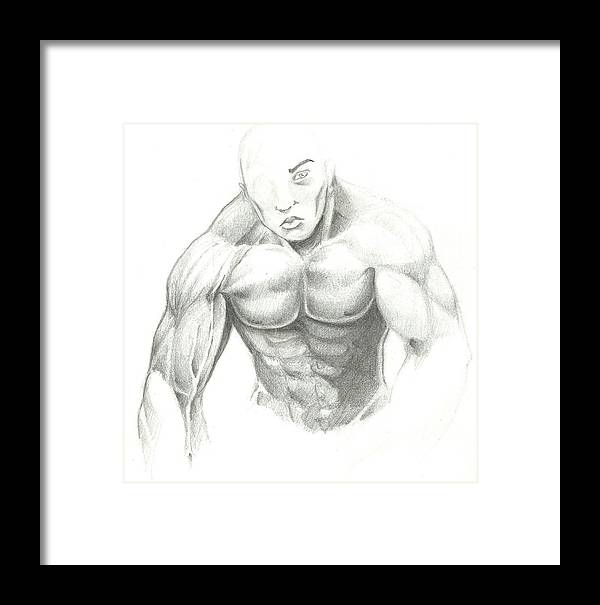 Figure Sketched Framed Print featuring the drawing Figure Sketched by Michael Briggs