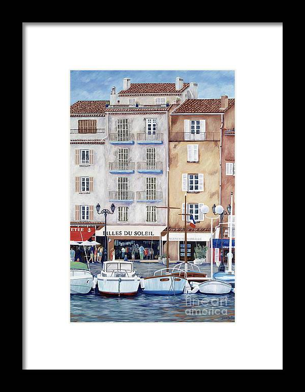 St. Tropez Framed Print featuring the painting Filles Du Soleil by Danielle Perry