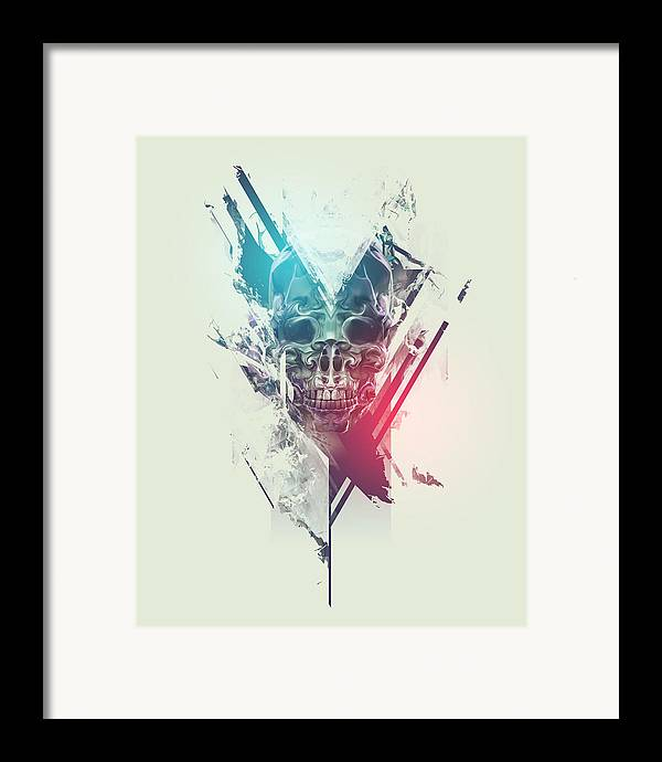 Skull Framed Print featuring the digital art Finale by George Smith