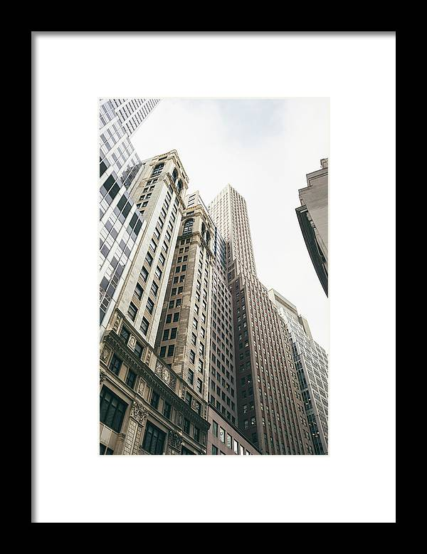Tranquility Framed Print featuring the photograph Financial District, New York City by Tuan Tran