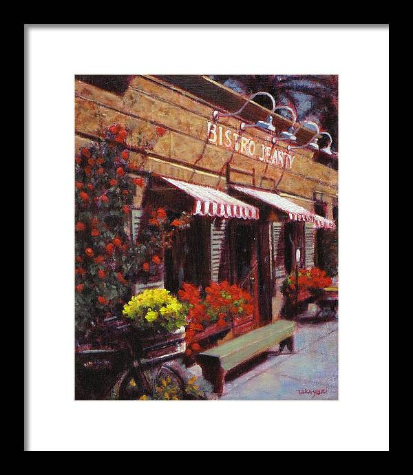 Wine Framed Print featuring the painting Fine Wine For Launch Italian Restraunt Bistro Jeanty by Takayuki Harada