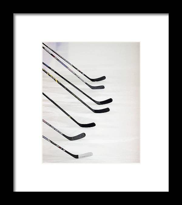 Generic Framed Print featuring the photograph Finland V Usa Blue - 2014 Usa Hockey by Bruce Bennett