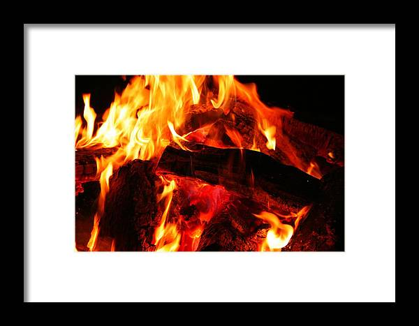 Fire Framed Print featuring the photograph Fire-2 by Denise Moore