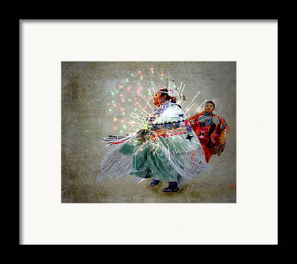 Fireworks Framed Print featuring the photograph fire Dance by Irma BACKELANT GALLERIES