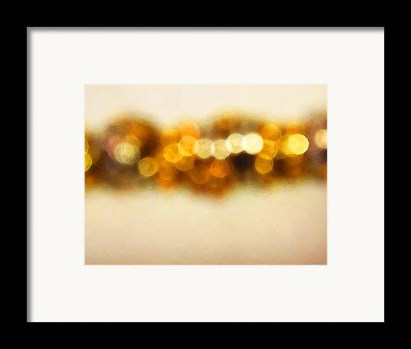 Buy Framed Print featuring the painting Fire Dance - Warm Sparkling Abstract Art by Sharon Cummings
