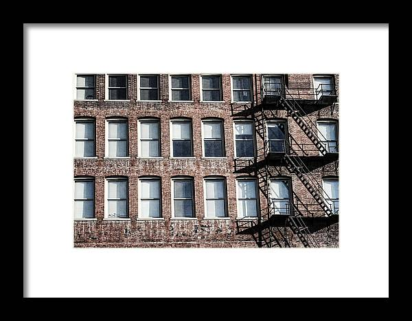 Fire Escape Framed Print featuring the photograph Fire Escape by Jeff Swanson
