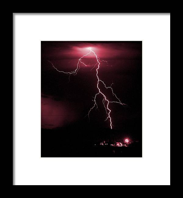 Thunder Framed Print featuring the photograph Fire In The Sky by HW Kateley