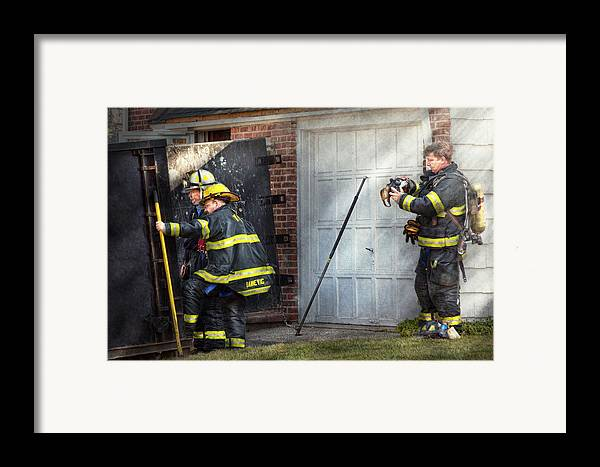 Savad Framed Print featuring the photograph Fireman - Take All Fires Seriously by Mike Savad