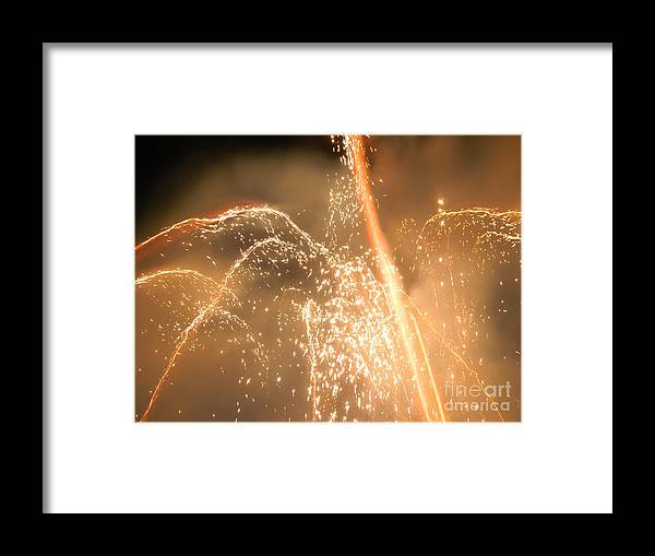 Fireworks Framed Print featuring the photograph Firework Shower by Heather White