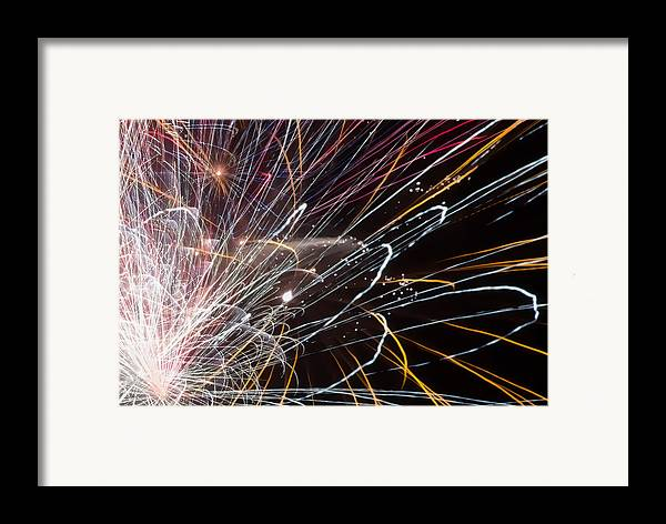 4th Of July Framed Print featuring the photograph Fireworks Cropped by Carl Clay