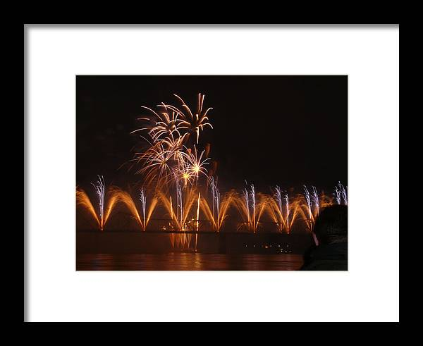 Landscape Framed Print featuring the photograph Fireworks Fountain by Kevin Jackson