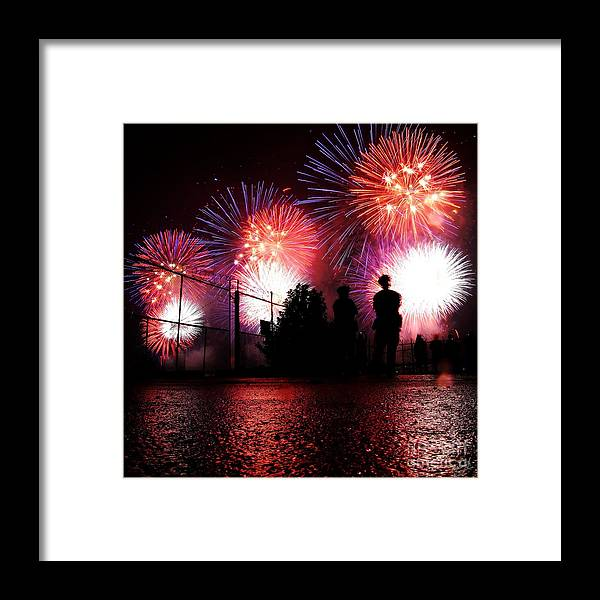 July 4th Fireworks Framed Print featuring the photograph Fireworks by Nishanth Gopinathan