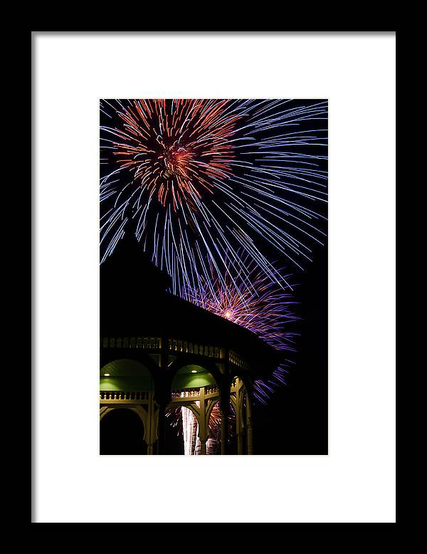 Marthas Vineyard Framed Print featuring the photograph Fireworks by Steve Myrick