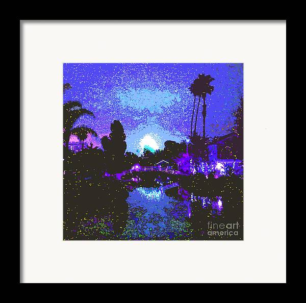 Fireworks Framed Print featuring the photograph Fireworks Venice California by Jerome Stumphauzer