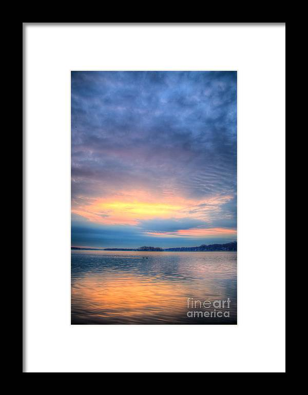 Hdr Framed Print featuring the photograph Firey Sunrise by Andrew Slater