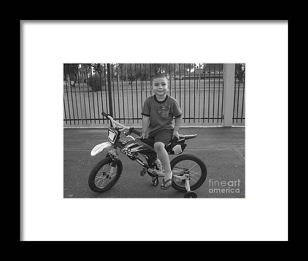 Bike Framed Print featuring the photograph First Bike by Lin Haring