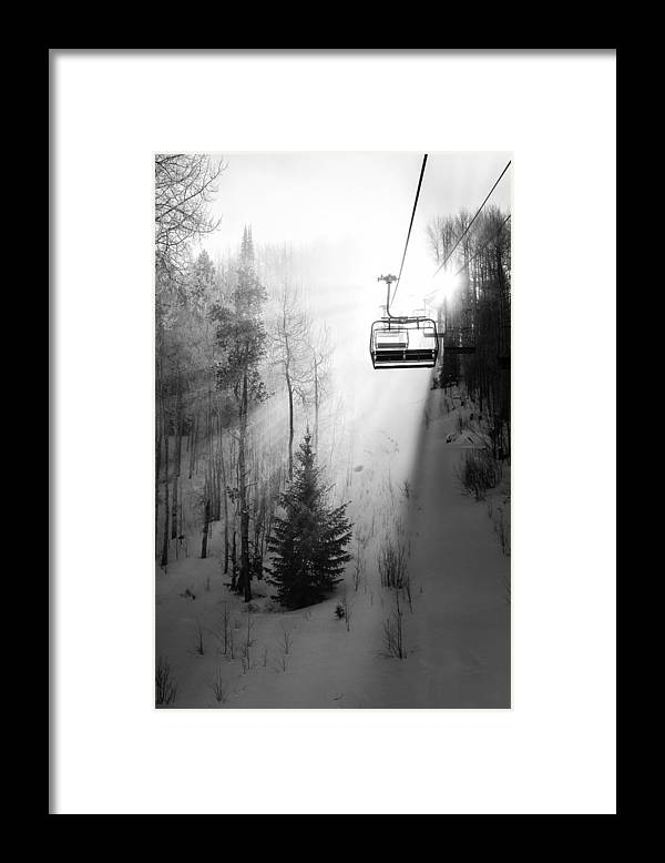 Vail Framed Print featuring the photograph First Chair by Sean McClay