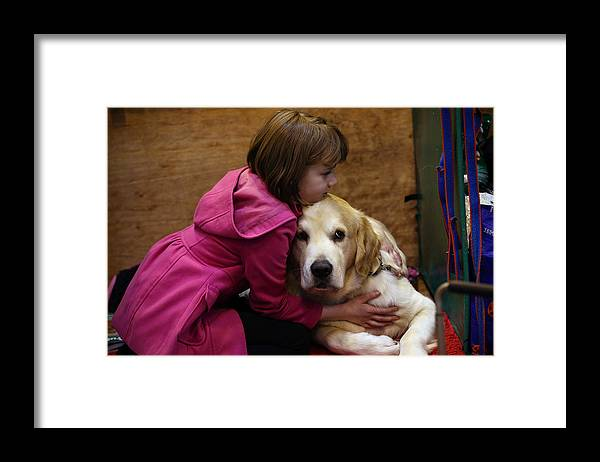 Child Framed Print featuring the photograph First Day Of Crufts 2015 by Carl Court