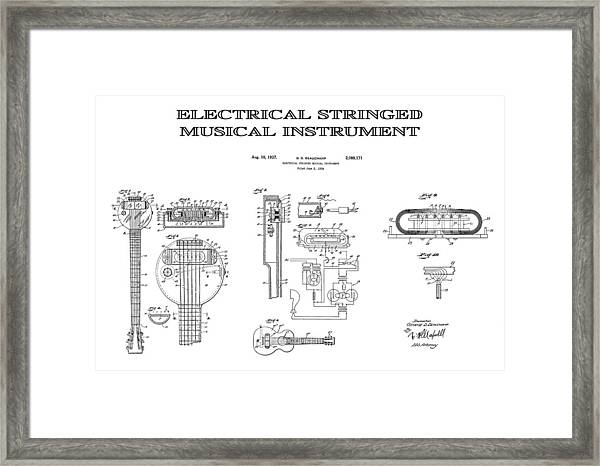 RICKENBACKER FRYING PAN ELECTRIC GUITAR PATENT DRAWING ART REAL CANVAS PRINT