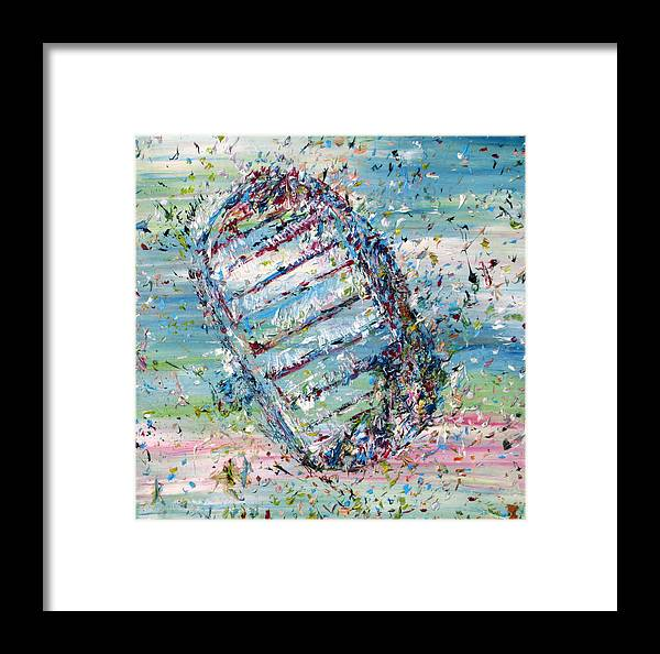 Foot Framed Print featuring the painting First Foot On The Moon by Fabrizio Cassetta