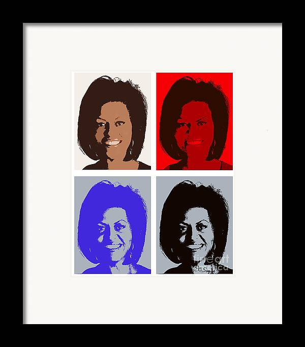Michelle Obama Framed Print featuring the photograph First Lady by Robert Suggs