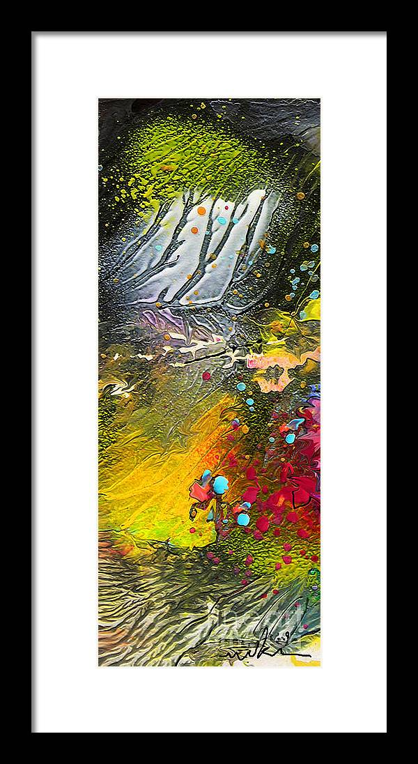 Miki Framed Print featuring the painting First Light by Miki De Goodaboom