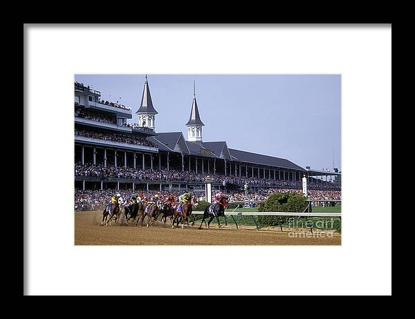 Thoroughbred Framed Print featuring the photograph First Saturday in May - FS000544 by Daniel Dempster