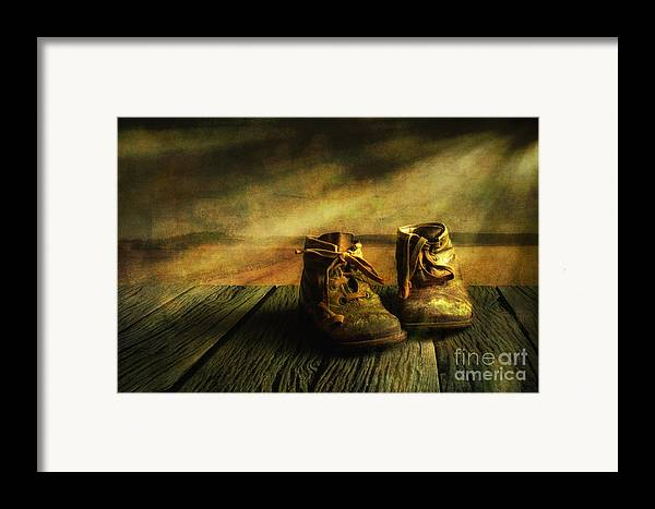Art Framed Print featuring the photograph First Shoes by Veikko Suikkanen