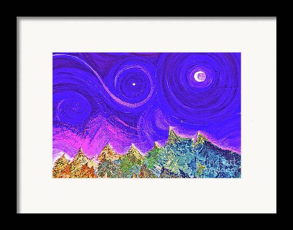 First Star Framed Print featuring the painting First Star Sunrise by First Star Art