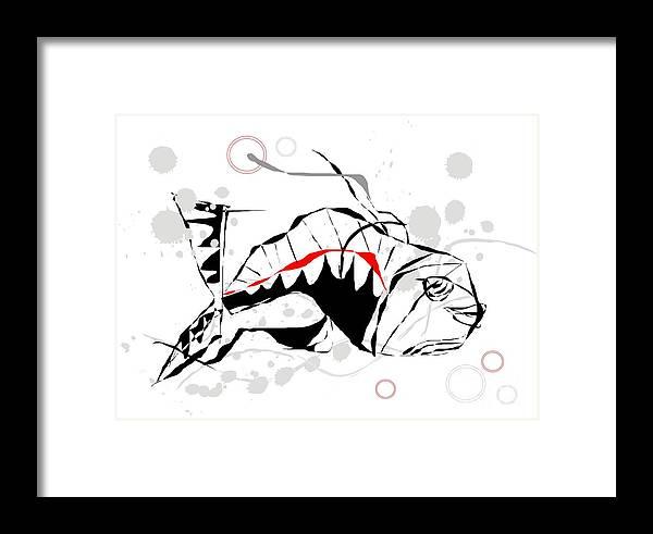 Graphics Framed Print featuring the digital art Fish 083 Marucii by Marek Lutek