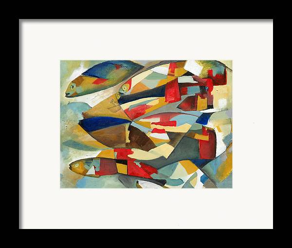 Fish Framed Print featuring the painting Fish 1 by Danielle Nelisse