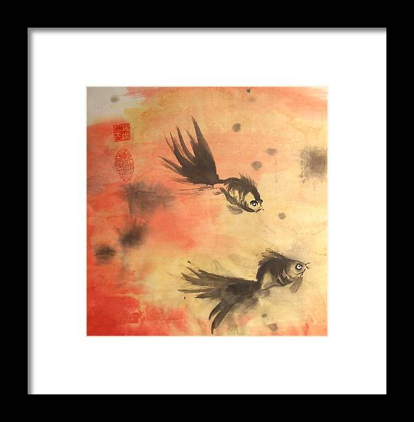 Fish Framed Print featuring the mixed media Fish 2 by Ren Adams