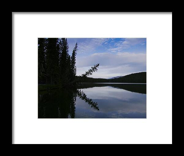 Lake Framed Print featuring the photograph Fish Lake At Nordegg 05 by Philip Rispin