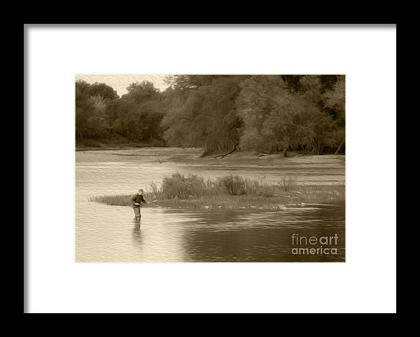Fishing Framed Print featuring the photograph Fisherman by Michael Shake