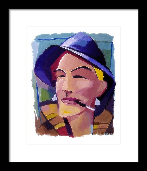 People Portraits Paintings Framed Print featuring the painting Fishermans Friend by Lutz Baar